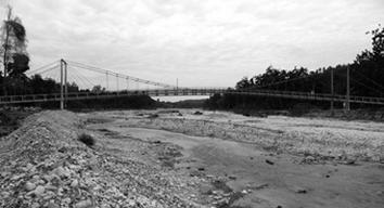 Crue de la rivière jacmel en haïti et